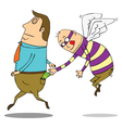 Flying pickpocket vector image