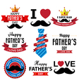 Happy fathers day vintage retro type font eps10 vector image vector image