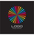 Colorful Bright Rainbow Circle Logo vector image