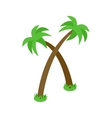Two palm trees icon isometric 3d style vector image