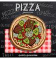 hot pizza advertisement vector image
