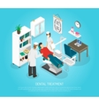 Dental Checkups Procedure Treatment Isometric vector image