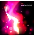 Abstract background with fire for presentation vector image