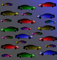 Background of multi colored cars vector image