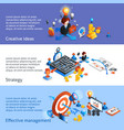 Business Strategy Isometric Banner vector image