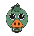 duck animal farm isolated icon vector image