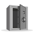 empty safe vector image