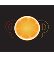Isolate tea cup vector image