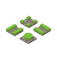 Isometric 3d land agriculture landscape vector image