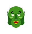 ogre happy emoji goblin merry emotion isolated vector image