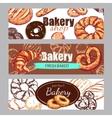 Sketch Bakery Banner Set vector image