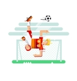 Soccer player character vector image