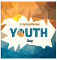 Youth day vector image