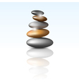 zen stone tower vector image