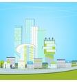 02 Eco City landscape vector image