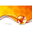 Tech background with globe vector image vector image