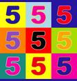 number 5 sign design template element pop vector image