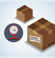 delivery design shipping icon white backgroun vector image