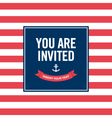 Happy birthday invitation card sailor theme vector image