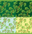 set of floral seamless pattern detailed ornament vector image vector image