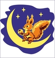 squirrel on the moon vector image