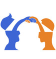 people head handshake vector image vector image