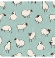 Herd of sheep Seamless pattern vector image