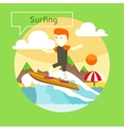 Surfing concept vector image