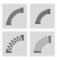 monochrome icons with Springs vector image