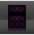 Pattern ornament floral lilac vector image vector image
