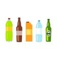Beverages Banner Set of Drinks in Bottles vector image
