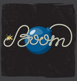 boom - rope lettering with bomb vector image