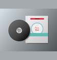 cds and music books on a gray background vector image