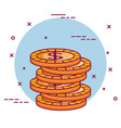 crowdfunding stack dollar coins money vector image