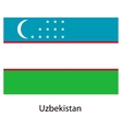 Flag of the country uzbekistan vector image