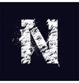 Grunge letter N vector image