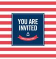 Happy birthday invitation card sailor theme vector image