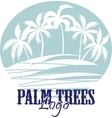 Palm trees on the Beach Logo Silhouette - vector image