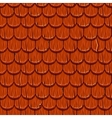 Red wooden old roofing Roof Tiles Seamless vector image