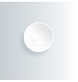 Round white web home page button with house icon vector image