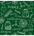 Scientific school board seamless pattern vector image