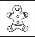 sketch gingerbread man vector image