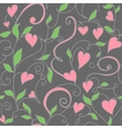 Seamless background with hearts ornament vector image vector image