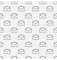 Email seamless pattern vector image