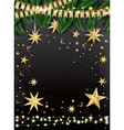 Empty Christmas Greeting Card vector image vector image