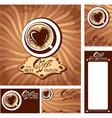 coffee heart menu 380 vector image vector image