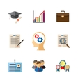 Business career colored icons vector image