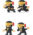 Ninja Customizable Mascot 15 vector image vector image