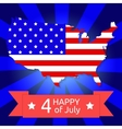 America flag on the American territory vector image