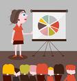 Businesswoman Presentation vector image vector image